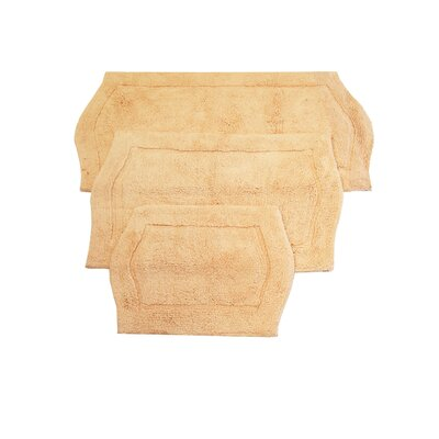 Shera 3 Piece Bath Rug Set Color: Linen