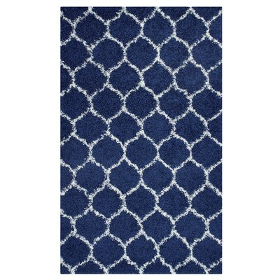 Eleftheria Moroccan Trellis Navy Blue/Ivory Area Rug Rug Size: Rectangle 5 x 8