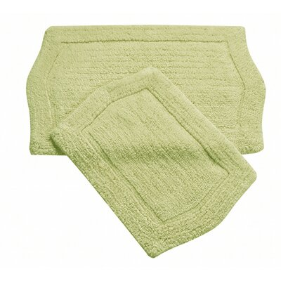 Shera 2 Piece Bath Rug Set Color: Green