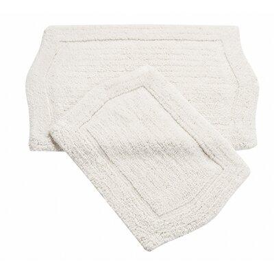 Shera 2 Piece Bath Rug Set Color: White