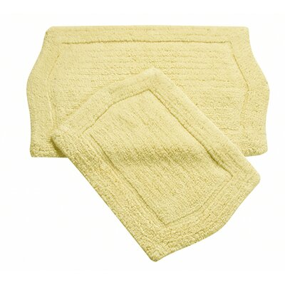 Shera 2 Piece Bath Rug Set Color: Yellow