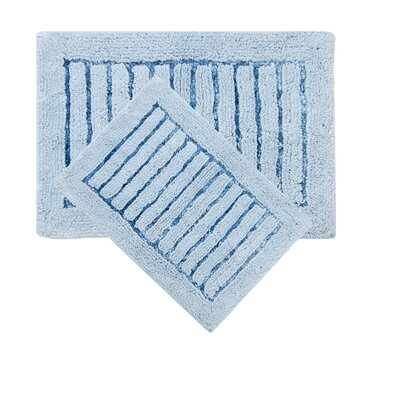 Cotta 2 Piece Bath Rug Set Color: Blue