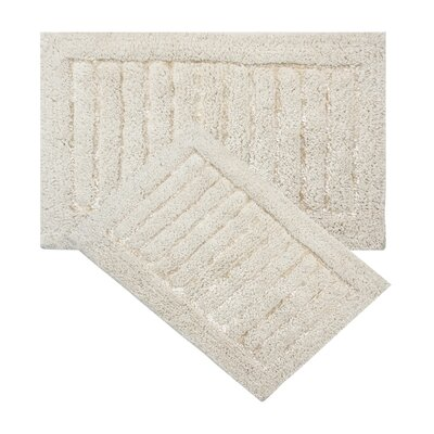 Cotta 2 Piece Bath Rug Set Color: Ivory