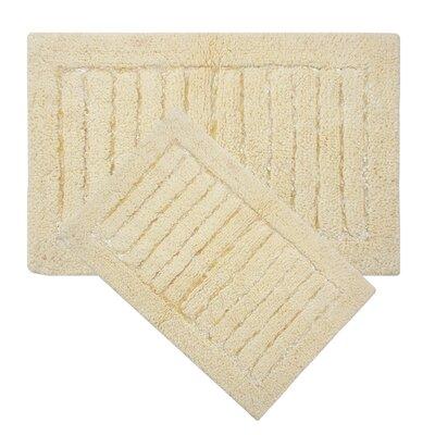 Cotta 2 Piece Bath Rug Set Color: Butter