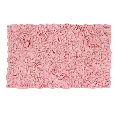 Bell Flower Bath Rug Size: 24 W x 40 L, Color: Pink