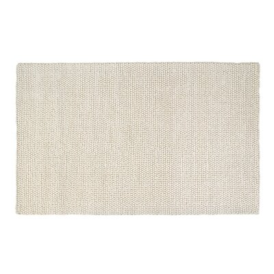 Hand-Woven Rectangle White Area Rug