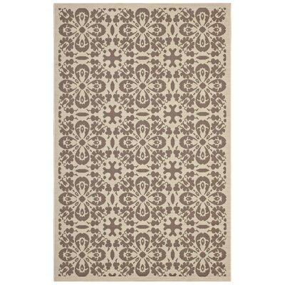 Herzberg Beige/Brown Indoor/Outdoor Area Rug Rug Size: Rectangle 5 x 8