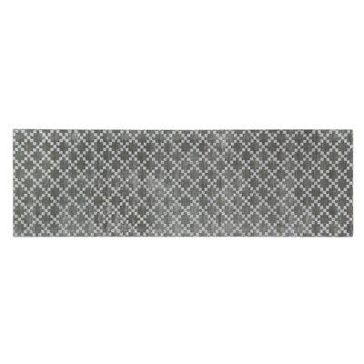 Teressa Diamond Hand-Woven Wool Gray Area Rug Rug Size: Runner 2x 6