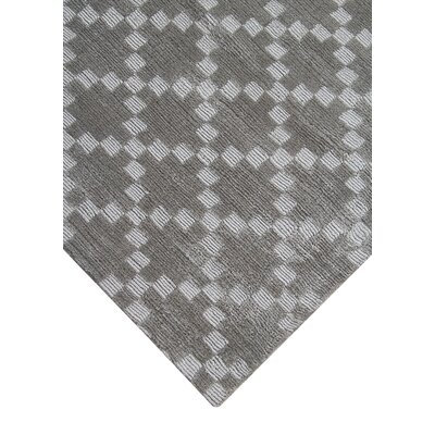 Teressa Diamond Hand-Woven Wool Gray Area Rug Rug Size: Runner 2x 6
