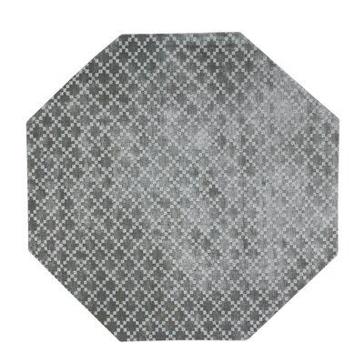 Teressa Diamond Hand-Woven Wool Gray Area Rug Rug Size: Octagon 5 x 5