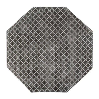 Teressa Diamond Hand-Woven Wool Midnight Black Area Rug Rug Size: Octagon 5 x 5