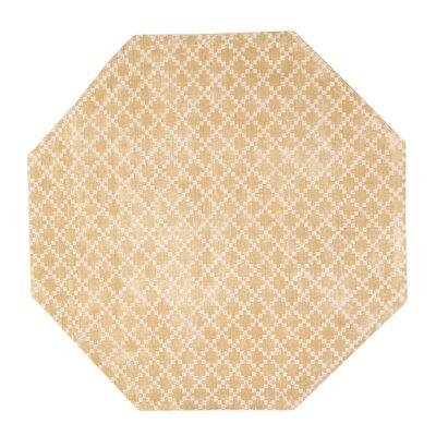 Teressa Diamond Hand-Woven Wool Mist Area Rug Rug Size: Octagon 5 x 5