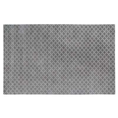 Teressa Diamond Hand-Woven Wool Gray Area Rug Rug Size: Rectangle 5x 8