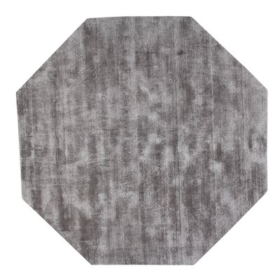 Pressley Hand-Woven Wool Gray Area Rug Rug Size: Octagon 5 x 5
