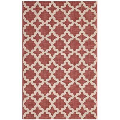Hervey Bay Moroccan Red/Beige Indoor/Outdoor Area Rug Rug Size: Rectangle 8 x 10