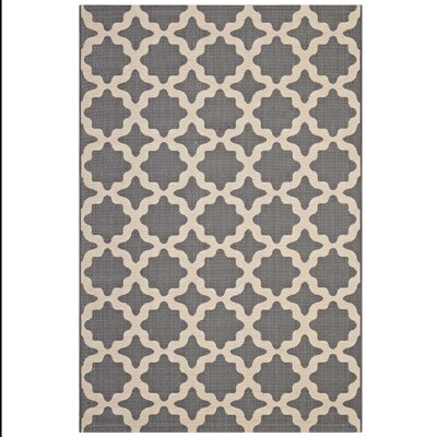 Hervey Bay Moroccan Trellis Gray/Beige Indoor/Outdoor Area Rug Rug Size: Rectangle 8 x 10