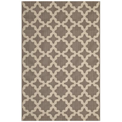 Hervey Bay Moroccan Trellis Beige Indoor/Outdoor Area Rug Rug Size: Rectangle 5 x 8
