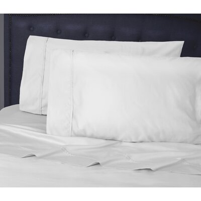 Hairston 500 Thread Count Sheet Set Size: King, Color: White