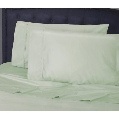 Hairston 1050 Thread Count Sheet Set Size: King, Color: Aqua