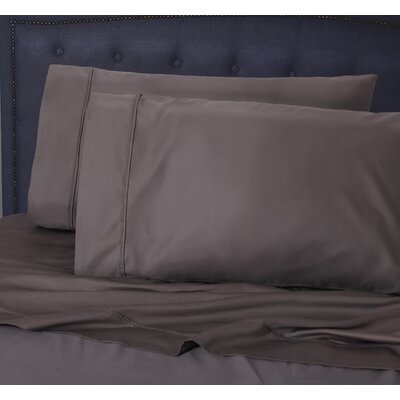 Hairston 1050 Thread Count Sheet Set Size: Queen, Color: Titanium