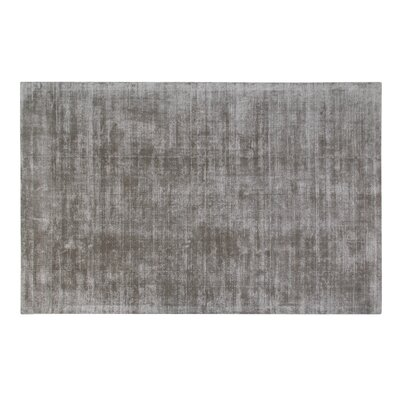Pressley Hand-Woven Wool Gray Area Rug Rug Size: Rectangle 5x 8