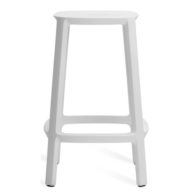Nunley Bar Stool (Set of 2) Color: White