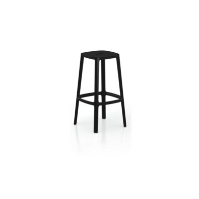 Nunley Bar Stool (Set of 2) Color: Black