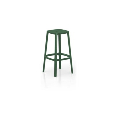 Nunley Bar Stool (Set of 2) Color: Dark Green