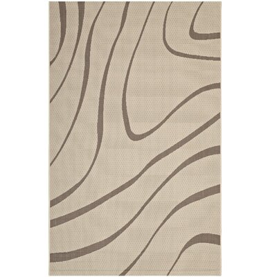 Filson Abstract Beige Indoor/Outdoor Area Rug Rug Size: Rectangle 5 x 8
