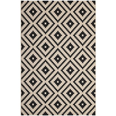 Eisen Geometric Trellis Black/Beige Indoor/Outdoor Area Rug Rug Size: Rectangle 8 x 10