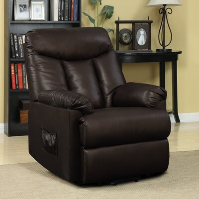 Cress Power Lift Assist Wall Hugger Recliner Upholstery: Brown