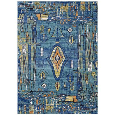 Feuerstein Southwestern Aztec Blue Area Rug Rug Size: Rectangle 4 x 6