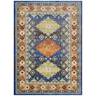 Fetterman Diamond Yellow/Orange Area Rug Rug Size: Rectangle 8 x 10