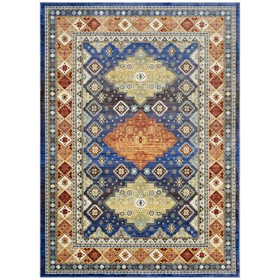 Fetterman Diamond Yellow/Orange Area Rug Rug Size: Rectangle 4 x 6
