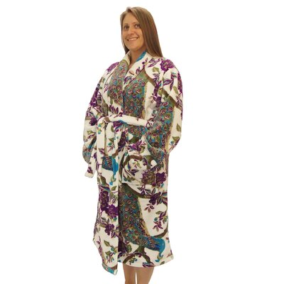 Taryn Microfiber Flannel Fleece Bathrobe Size: Large