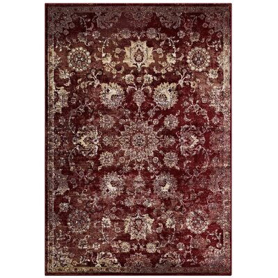 Fillion Persian Medallion Burgundy/Beige Area Rug Rug Size: Rectangle 8 x 10