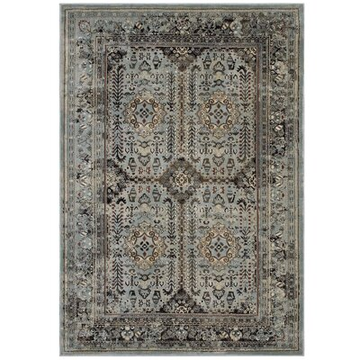 Houtz Vintage Gray/Beige Area Rug Rug Size: Rectangle 8 x 10