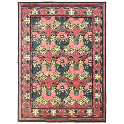 One-of-a-Kind Hand-Woven Wool Red/Yellow Area Rug Size: Rectangle 5 W x 7 L