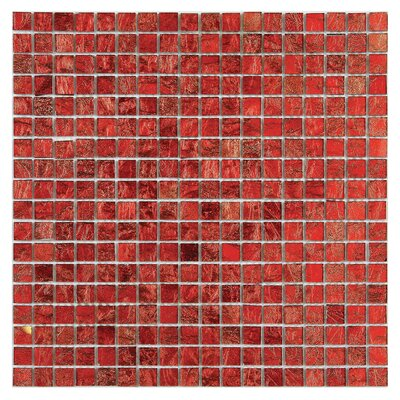 Micro Folia 0.56 x 0.56 Glass Mosaic Tile in Hawthorn Red