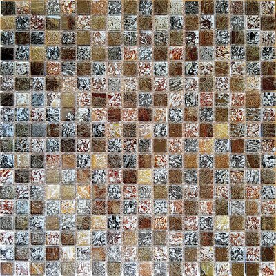 Micro Folia 0.56 x 0.56 Glass Mosaic Tile in Harvest