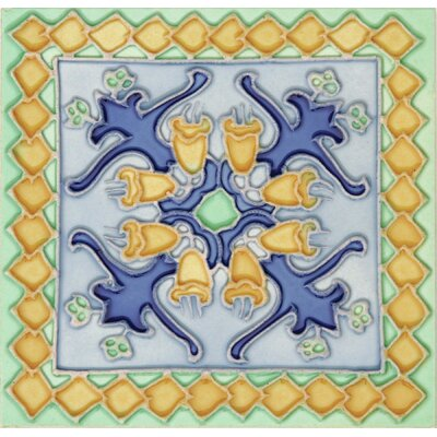 Hand-Painted 6 x 6 Ceramic Field Tile in Cabos