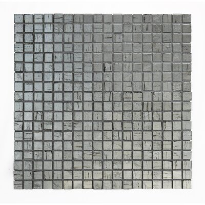 Micro Folia 0.56 x 0.56 Glass Mosaic Tile in Borage Silver