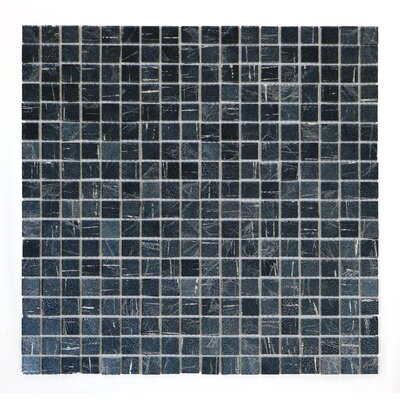 Micro Folia 0.56 x 0.56 Glass Mosaic Tile in Sea Holly Blue