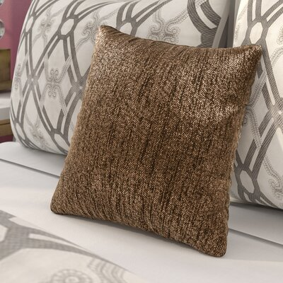 Alas Throw Pillow Size: 16 H x 16 W x 4 D, Color: Chocolate