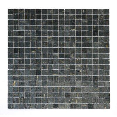 Micro Folia 0.56 x 0.56 Glass Mosaic Tile in Amethys Gray