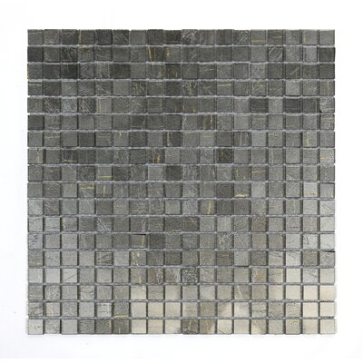 Micro Folia 0.56 x 0.56 Glass Mosaic Tile in Silver Mound