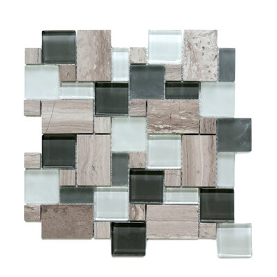 Opera Random Sized Glass/Marble Mosaic Tile in Bel Canto Light