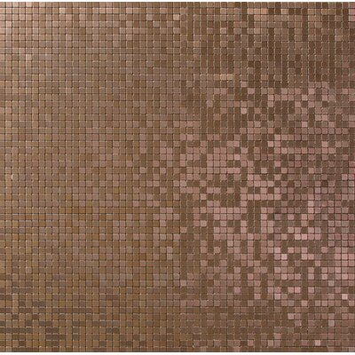 Micro 0.38 x 0.38 Metal Mosaic Tile in Alloy Brushed Copper
