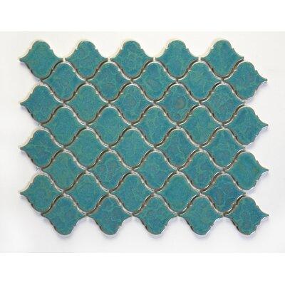 Tessen 2.2 x 2.5 Porcelain Mosaic Tile in Brine Blue