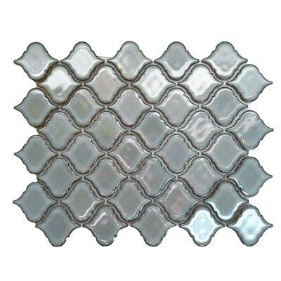 Tessen 2.2 x 2.5 Porcelain Mosaic Tile in Luna Gray